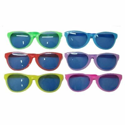 6 X Giant Big Face Glasses Assorted Colours Hen Stag Party Joke Fun Fancy Dress