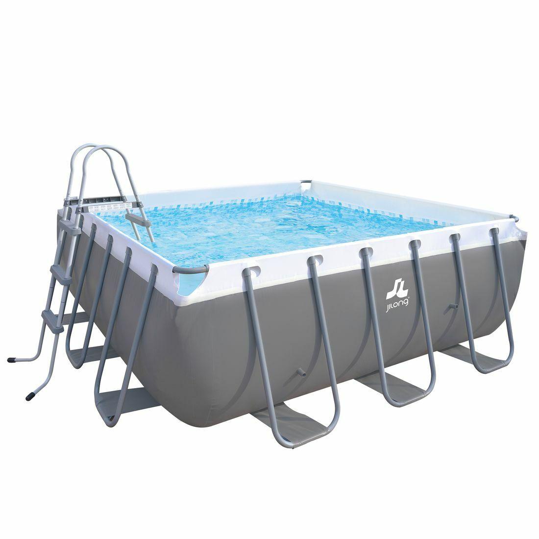 XXL Familien Pool 3 x 3 x 1m Stahlrahmenbecken Garten Schwimmbecken Schwimmbad