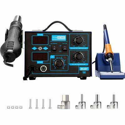 Vivohohome 862d 2in1 Soldering Iron Desoldering Station Welding Hot Air Gun New
