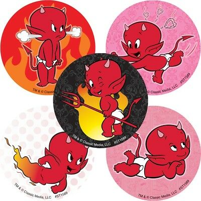 25  Hot Stuff the Little Devil Stickers Party Favors Teacher Supply Rewards  - Teachers Stuff