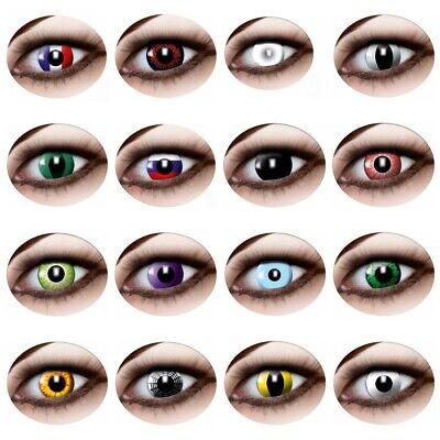 Kontaktlinsen 3 Monatslinsen Funlinsen Flaggen Schlangenaugen