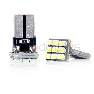 2 White T10 9SMD Map LED Light bulb W5W For Benz  BMW Buick Acura Ford Buick
