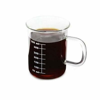 Laboratory Beaker Mug Glass 350ml Beaker W Glass Handle Science Nerds Geeks