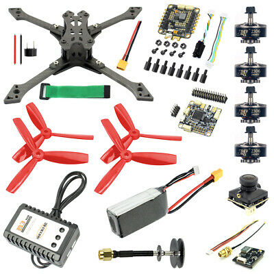 JMT DIY FPV Racing Drone Quadcopter Combo Kit Cloud Control 1200TVL Camera NEW