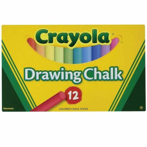 Crayola Colored Drawing Chalk - 12-Color Set  51-0403