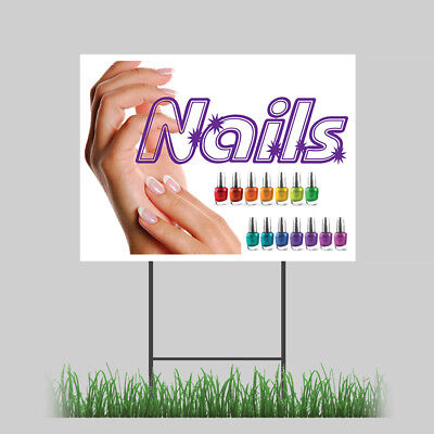 18x24 Nails Salon Manicure Spa Beauty Store Sign