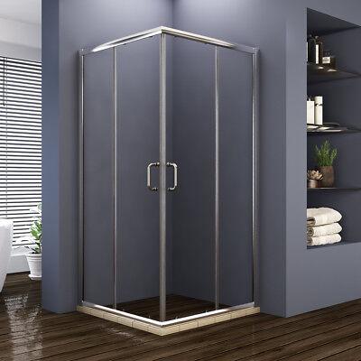 "ELEGANT 36"" x 36"" x 72"" Sliding Glass Shower Enclosure Door Corner Chrome Finsih"