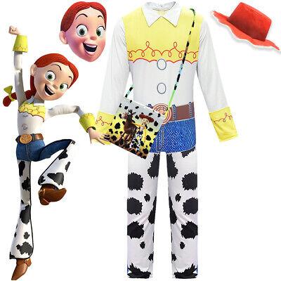 Kid Toy Story 4 Jodeln Cowgirl Jessie Outfit Cosplay Kostüm Overall Halloween - Toy Story Cowgirl Jessie Kostüm