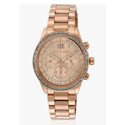 Michael Kors Rose Gold-Tone Brinkley Watch MK6204 $395