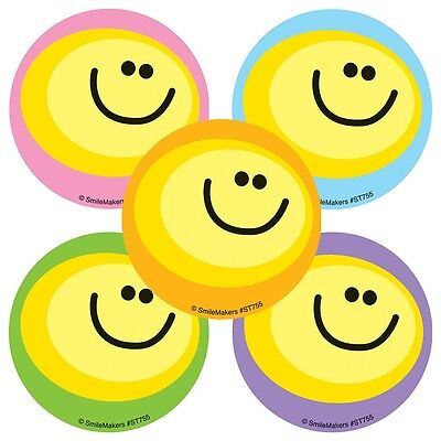 Smiley Face Charts - Smiley Face Stickers x 10 - Reward Charts Favours Teachers SMILE Stickers Party