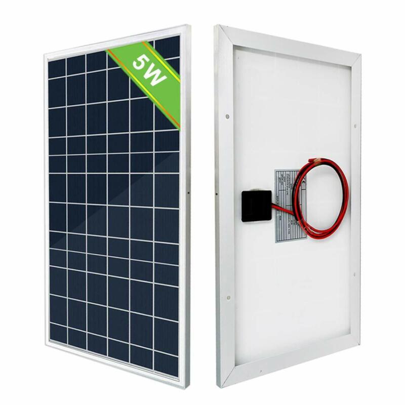 5 Watt 12V Solar Panel Polycrystalline High Efficiency for Garden Car Boat Home