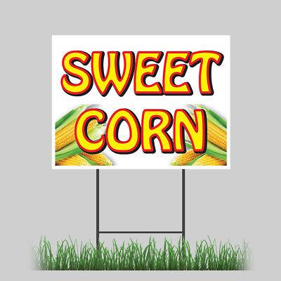 18x24 Sweet Corn Yard Sign Market Fresh Farmer Market Concession Stand Sign