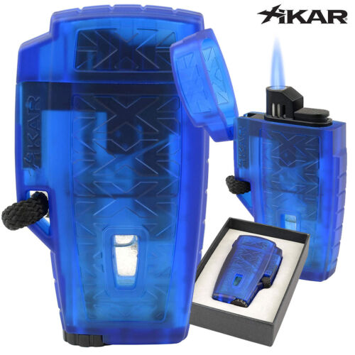 Xikar Stratosphere ll Single Torch Lighter- Blue (MSRP: $29.99)
