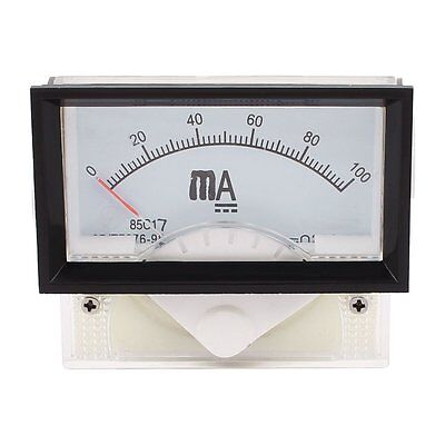 Analog Panel Ammeter Gauge Current Meter 85c17 Dc 0-100 Ma Class 2.5