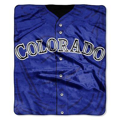 (Colorado Rockies 50x60 Plush Raschel Throw Blanket - Jersey Design [NEW] MLB)