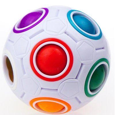 YJ Rainbow Ball Magic Cube Spherical Smooth Twist Brain Teasers Puzzle Maze - Brain Teasers Mazes