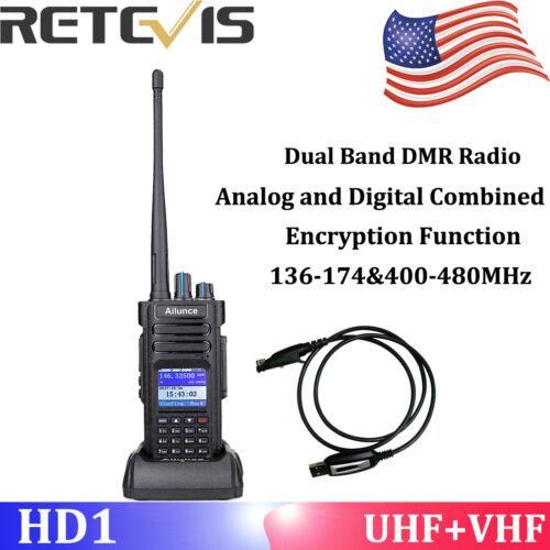 Ailunce HD1 DMR Digital IP67 VOX Dual Band 3000CH 3200mAh