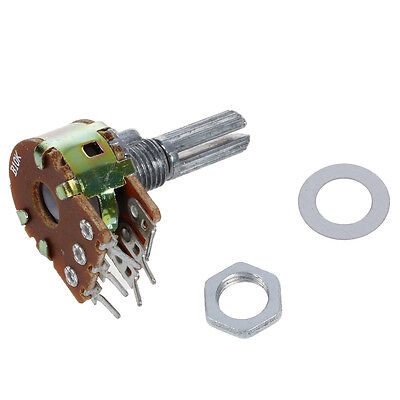 5 Pcs B10k 10k Ohm 6 Pins Split Shaft Rotary Linear Dual Taper Potentiometers N3