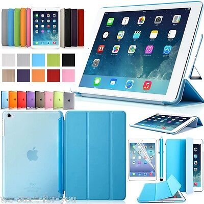 ★Slim iPad Air 1 Schutz Hülle+Folie Kunstleder Tasche Smart Cover Case Etui 9F★ Leder Smart Cover