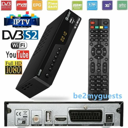 FULL Digital Sat Receiver HDTV HDMI SCART USB 1080p DVB-S2 USB Easy Find 3G W1