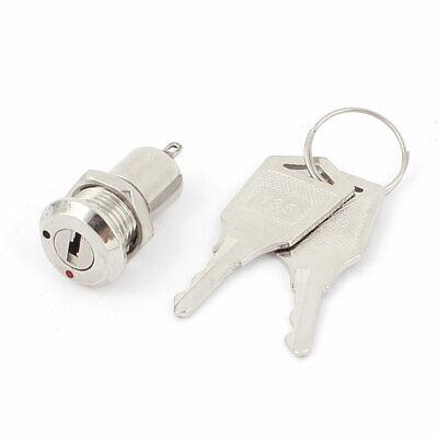 12mm 2 Pin 2 posición ON OFF Interruptor bloqueo mini eléctrico metal...