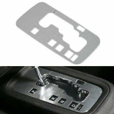 Silver Aluminum Interior Trim Gear Frame Cover for Jeep Wrangler JK 2012-2018 ()