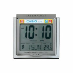 Casio DQ-750F-8D Digital Alarm Clock - Thermometer Snooze Calendar Gray