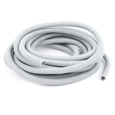 Gris plástico 16x12mm flexible corrugado conducto manguera de Tubo largo 7.3M