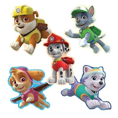 20 Paw Patrol Shape STICKERS Party Favors Supplies Birthday Treat Loot Bags - Paw Patrol Party Supplies