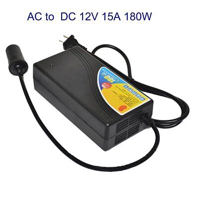 Home base Usage AC-DC 12V 15A 180W Adapter Converter with Car Cigarette Lighter