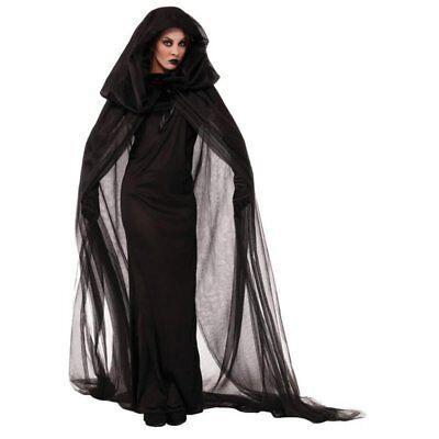 Damen Halloween Karneval Fasching Kostüm Erwachsene Schwarz Vampir Cosplay - Halloween Hexe