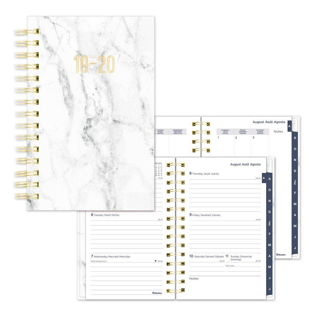 academic weekly planner marble 2019 2020