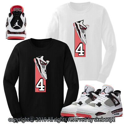 CUSTOM T SHIRT MATCHING STYLE OF Air Jordan 4 Flight Nostalgia JD 4-10-11-L