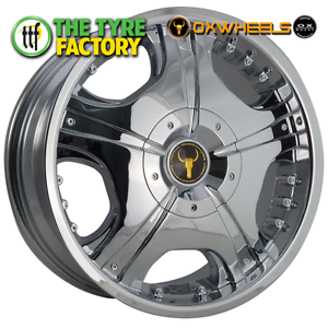 Oxwheels OX618 20x8.5 6/114.3 Chrome Alloy Wheels Prestons Liverpool Area Preview