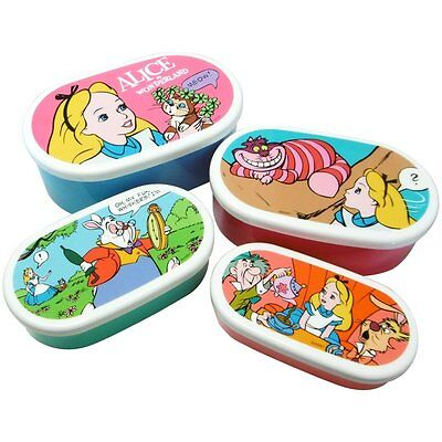 Disney Alice in Wonderland Lunch Box Seal Containers Set of 4pcs