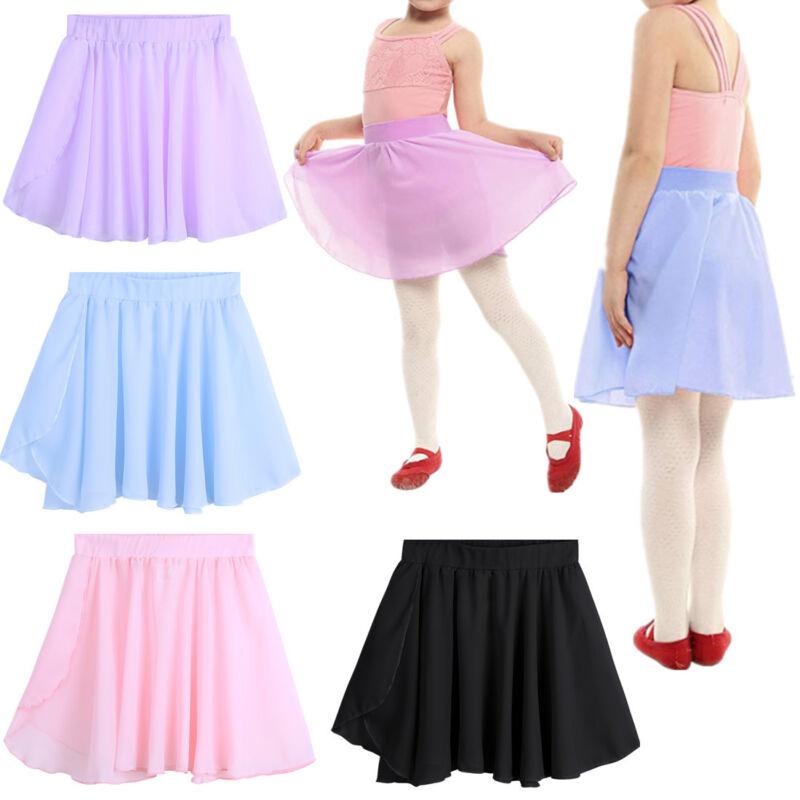 f312aa63371c US Toddler Kid Girl Ballet Dress Leotard Dance Basic Skate Tutu Wrap ...