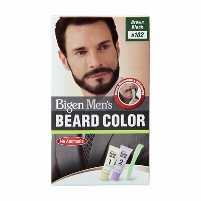 Bigen Men's Beard and Mustache Gel Color Ammonia Free Brownish Black B102 - 40g