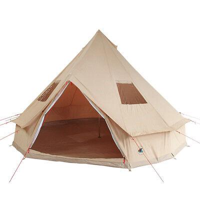10T Camping-Zelt Desert, 8 Personen Tipi, Baumwoll-Pyramidenzelt, Familienzelt