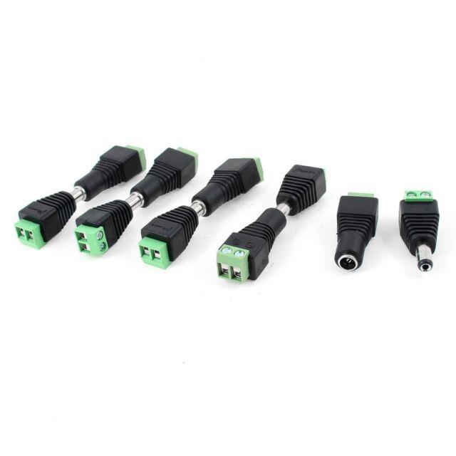 2x(10 Pcs CCTV Cameras 2.1mm x 5.5mm Female Male DC Power Plug Adapter AU O U8L8