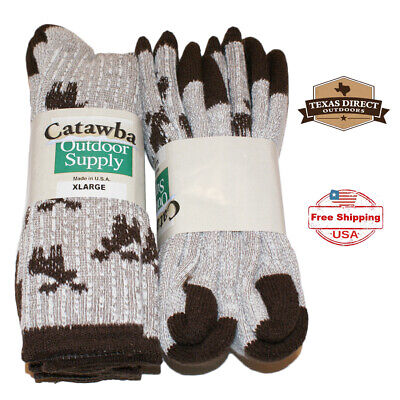 Catawba Big and Tall XL Wool Blend Boot Hunting Outdoor Socks (Lot of 4 Pairs) Big And Tall Boots