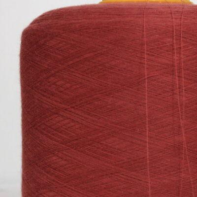 (6,90€/kg) Garn Rot Weinrot Wolle Stricken Kone Spule 1 kg  /N06