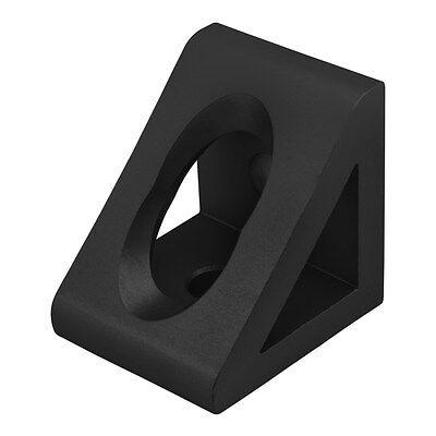 8020 Inc T-slot Aluminum 2 Hole Gusseted Bracket 15 Series 4332-black N