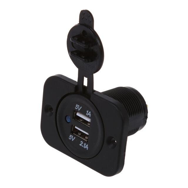 Adapter socket 2 USB Ports Car Cigarette Lighter Charger for 12V Car Auto C3Z1