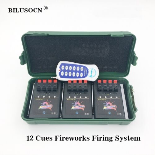 12 Cue Wireless Fireworks Firing system equipment+Remote control Digital switch
