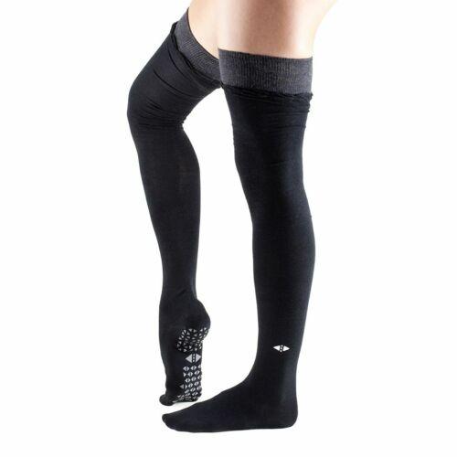 Tavi Noir JOHNNY OVER THE KNEE Grip Socks Medium 8.5-10.5 BLACK