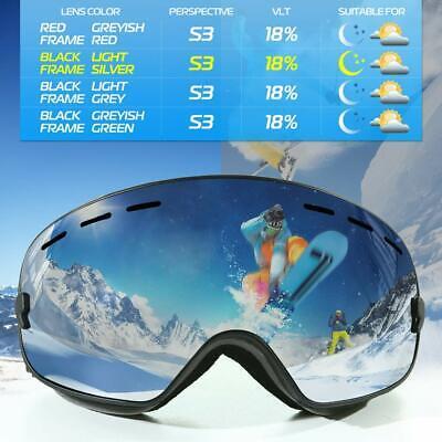 VERZEY Superior Ski Goggles - OTG Frameless Snow Snowboard Goggles Dual Lens wit