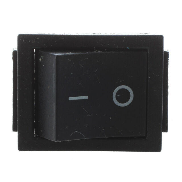 2 Pcs Black 4 Pins DPST On/Off Rocker Switch AC 250V/15A 125V/20A PK