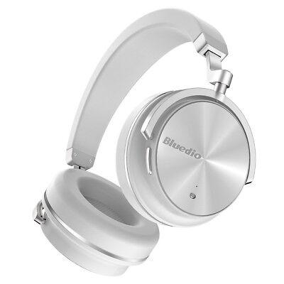 Bluedio T4 Bluetooth 4.2 ANC Headphones Wireless Stereo Mic Headsets White