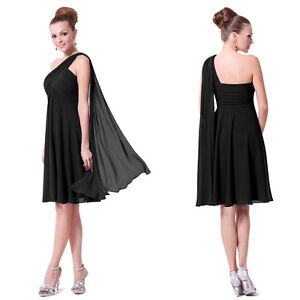 Ruffles Padded Chiffon Charming Cocktail Bridesmaid Dress 03537