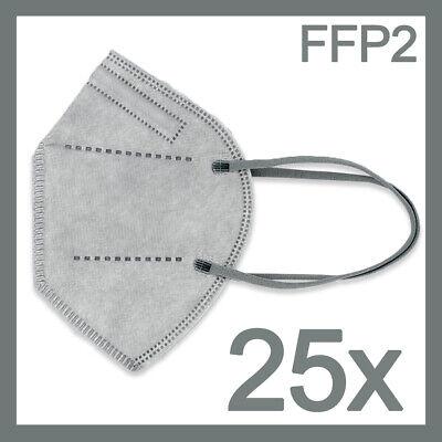 Neuheit! FFP2 Maske in stylischem GRAU 25x CE Zertifiziert Mundschutzmaske bunt
